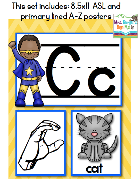 American Sign Language Alphabet Classroom Decor