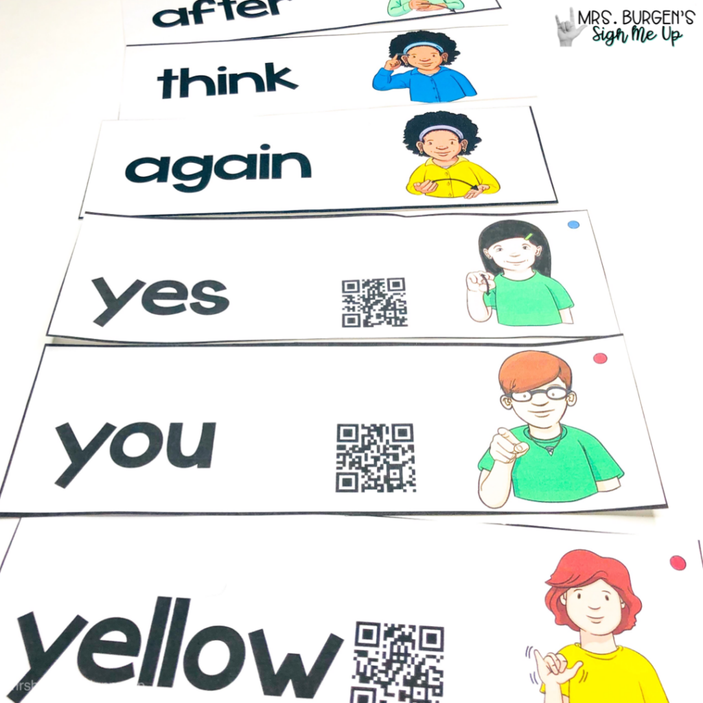 ASL-word-wall-with-QR-codes